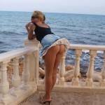 blonde coquine photo erotique avec fesses