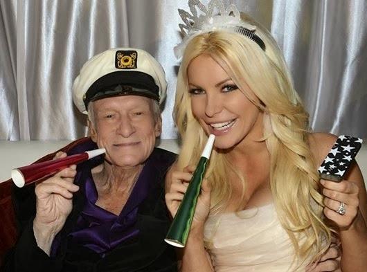 amour n'a pas d'age Hugh Hefner et Crystal Harris